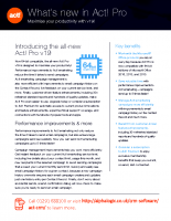 What's new in Act! Pro