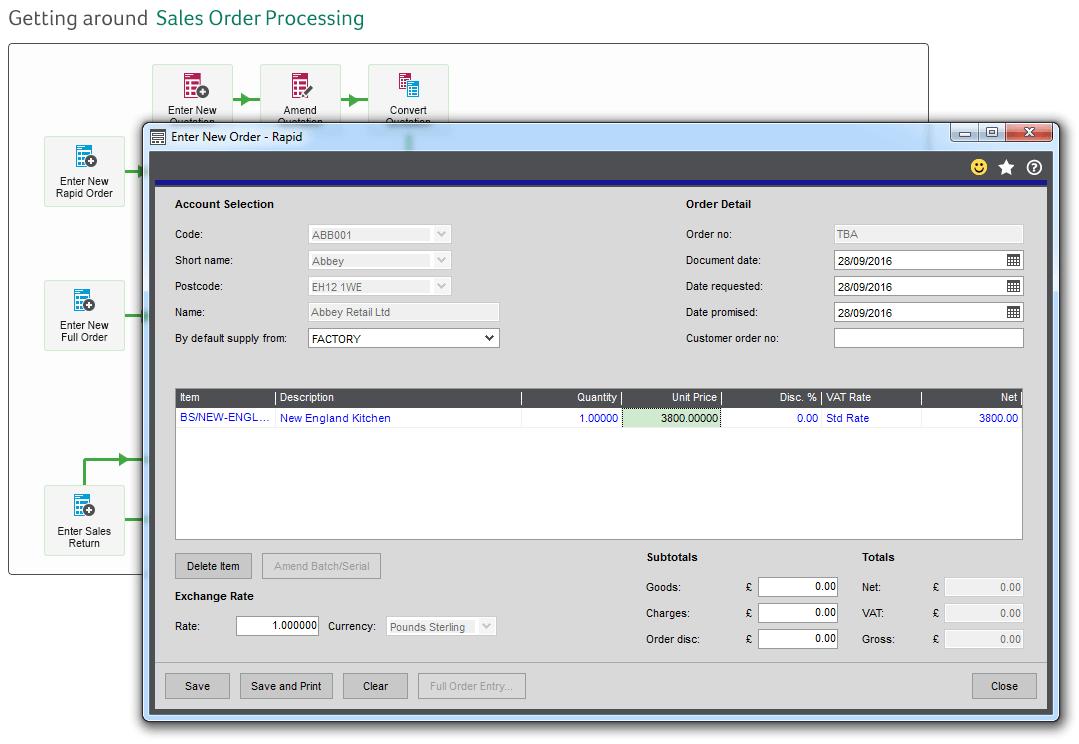 Sage 200 Process Maps