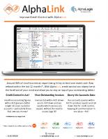 AlphaLink: Improve Credit Control