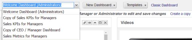 Interactive Dashboard Options