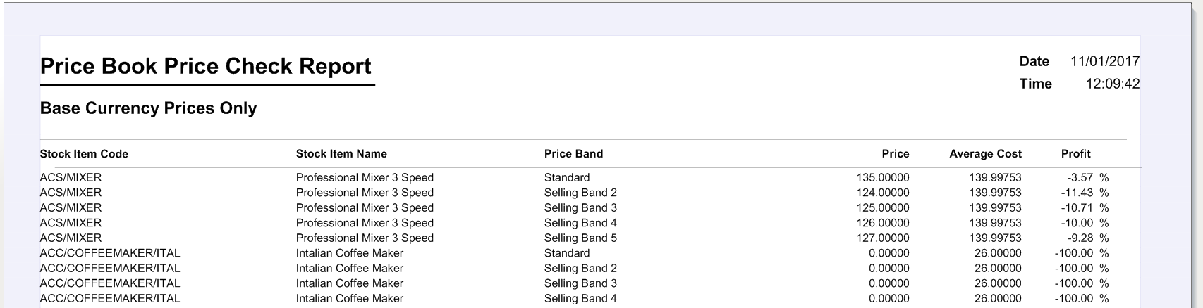 Price Book Validation