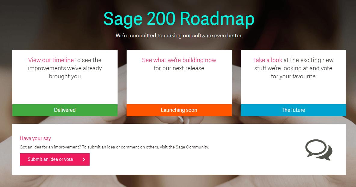 Sage 200 Roadmap
