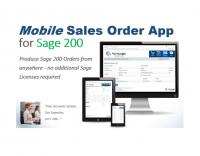 Sage 200 Mobile Sales Order App