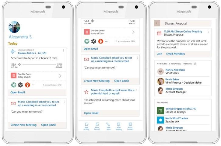 Microsoft Dynamics 365 CRM Mobile