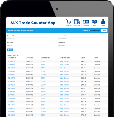 Sage Trade Counter application