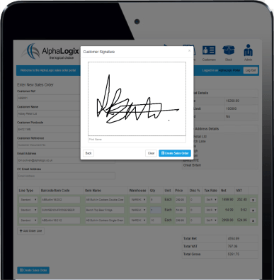 Sage 2000 Mobile Signature App