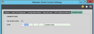 Stock Control Settings