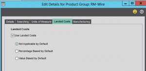 Product Group Settings